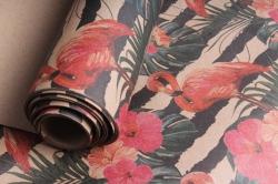 Бумага  КРАФТ Фламинго  0,7*1м в лист. (10 лист.)  78г/м2  UNFLM-K   М