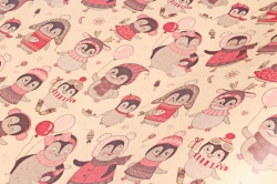 Бумага  крафт 203/Х153  Нов. Год.  Праздник у пингвинов 0,7*1м (10 лист.)