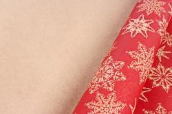 Бумага  крафт 203/Х150  Нов. Год.  Снежинки-острые льдинки 0,7*1м (10 лист.)
