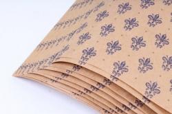 Бумага  КРАФТ Лилии синие  0,7*1м в лист. (10 лист.) 78г/м2  (М)  GI003-K