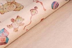 Бумага  КРАФТ Мишки на Розовом  0,7*1м в лист. (10 лист.) 78г/м2  (М)  GI002-K