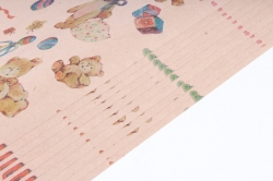 Бумага  КРАФТ Мишки   0,7*1м в лист. (10 лист.) 78г/м2  (М)  GI001-K