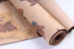 Бумага  КРАФТ Мишки  0,7*1м в лист. (10 лист.) 78г/м2  GP-NBR-K  М