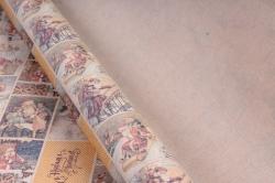 """Бумага  КРАФТ Нов. Год """"Открытки с Дедом Морозом""""  72см*10м   40гр/м2   32767  М"""