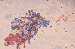 """Бумага  КРАФТ Нов. Год """"Песня о Снежинке""""  72см*10м   40гр/м2   37301  М"""