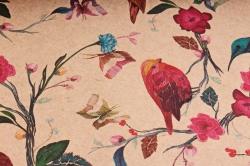 Бумага  КРАФТ 203/365  Птички-невелички 100*70см  (10 лист.)