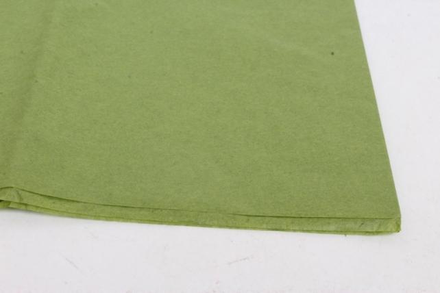 Бумага  тишью (Ч) хаки  50*66см (10 листов в уп)