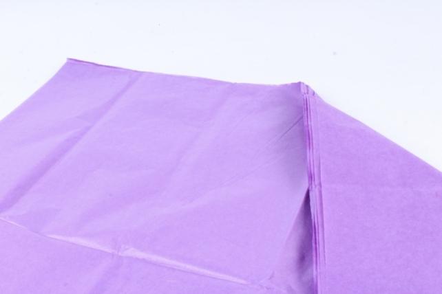 Бумага  тишью (Ч) ярко-сиреневая  50*66см (10 листов в уп)