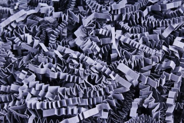 Бумажный наполн. Волна (3мм) Холодный серый  (818) 100гр