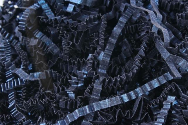 Бумажный наполн. Волна (3мм) Королевский синий  (407) 100гр