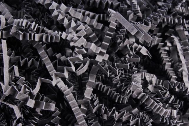 Бумажный наполн. Волна (3мм) Серый  (816) 100гр