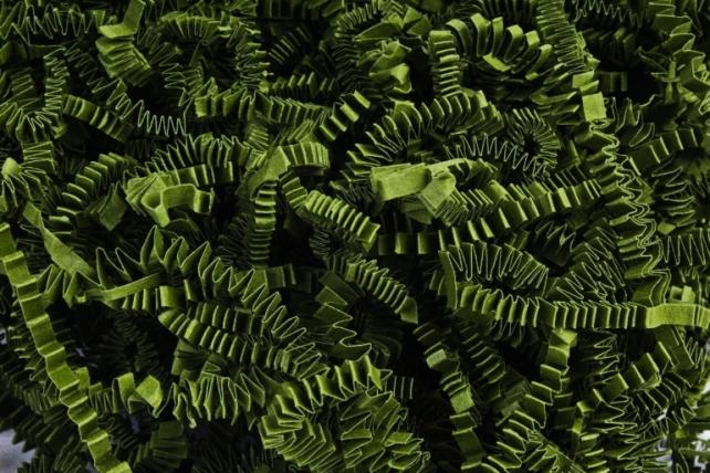 Бумажный наполн. Волна (3мм) Травяной  (802) 100гр