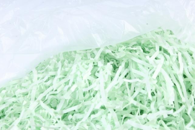 Бумажный наполн. Волна  (1кг ) Светло-зеленый   (107)