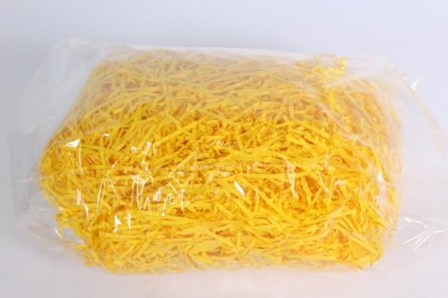 бумажный наполнитель (волна) жёлтый (113) 100гр