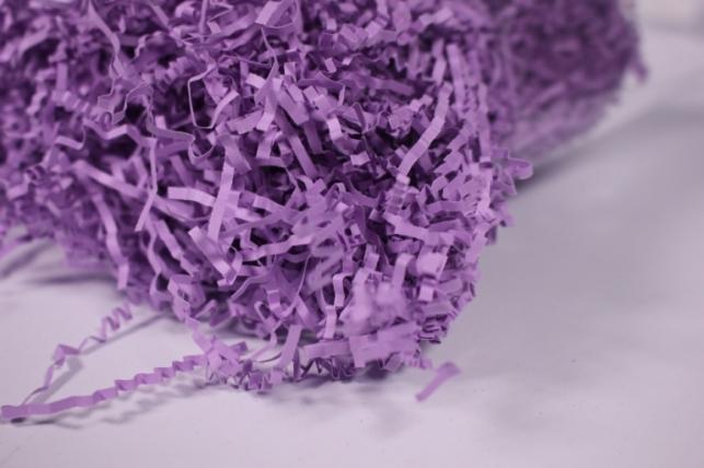 бумажный наполнитель - волна лиловый (150) 100гр