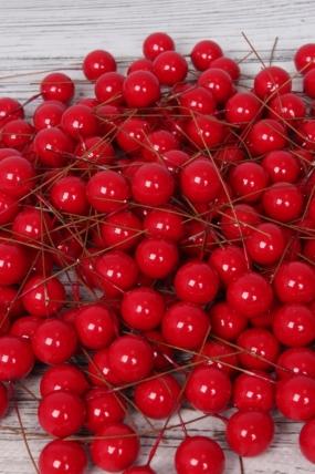 Бусина на проволоке 12 мм красная по 140 шт 9KU7594