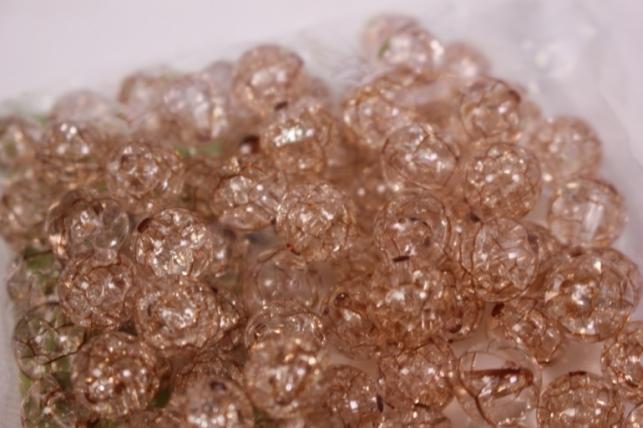 бусины  10мм круглые коричневые  (50гр) pl  01-10 875