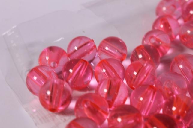 бусины 10мм круглые красные (50гр) 110acs33 5309