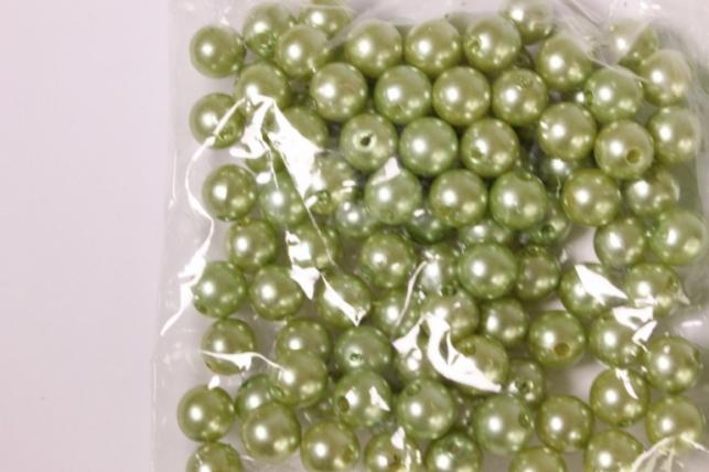 бусины 10мм круглые оливка (50гр) 110р90 3995