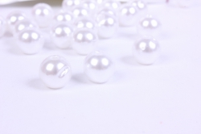 бусины  10мм круглые перламутр белые  (50гр) pl  k10b-10