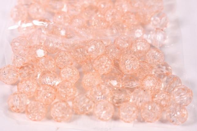 Бусины 10мм Круглые Персик (50гр) PL 02-10 814 9279