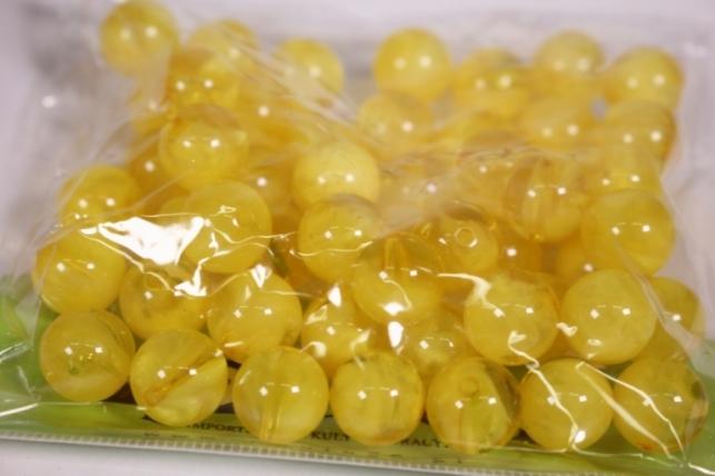 бусины  12мм желтые  (50гр) pl  s01-12 806