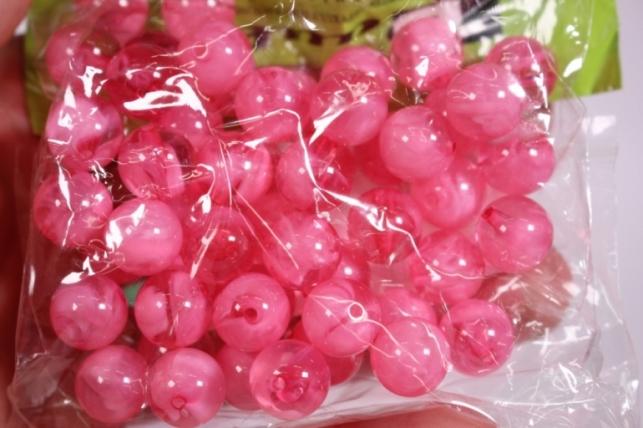 бусины  12мм малиновые  (50гр) pl  s01-12 867