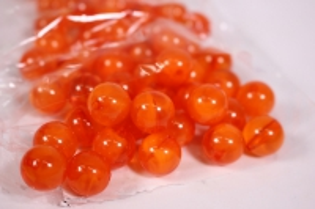 бусины  12мм оранжевые  (50гр) pl  s01-12 813