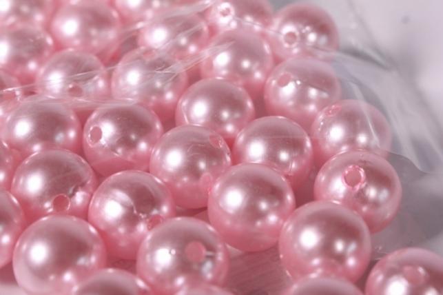 бусины 14мм 50гр- розовые 114р50 4565
