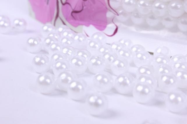 бусины  6мм круглые перламутр  белые   (50гр) pl в асс. k6-27