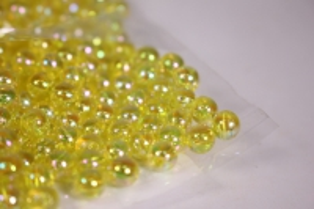 бусины  6мм круглые перламутр. лимонные   (50гр) pl