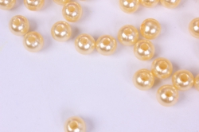 бусины  6мм круглые перламутр  персиковые   (50гр) pl в асс. k6-03