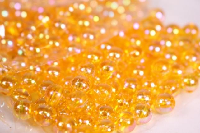 бусины  6мм круглые перламутр. янтарь   (50гр) pl в асс. 107 ав93