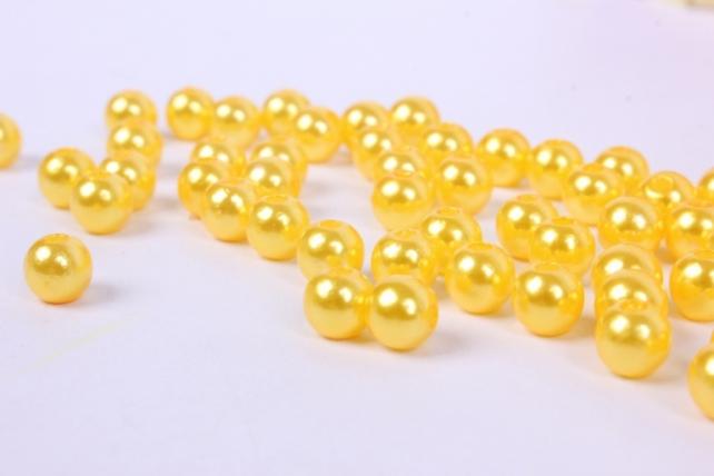 бусины  6мм круглые перламутр  ярко-желтые   (50гр) pl в асс. k6zoa