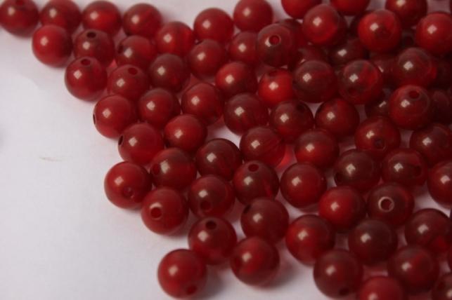 бусины 8мм круглые малахит бордовый (50гр) 8114