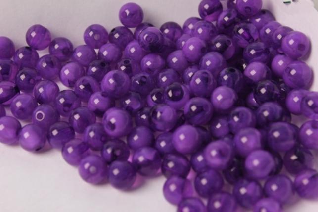 Бусины 8мм Круглые Малахит Фиолетовый (50гр)