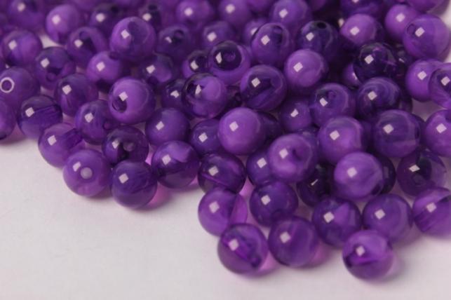 бусины 8мм круглые малахит фиолетовый (50гр) 8114