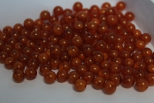 бусины 8мм круглые малахит карамель (50гр) 8114