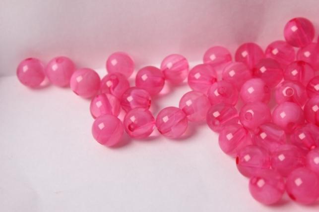 бусины 8мм круглые малахит розовый (50гр) 8114