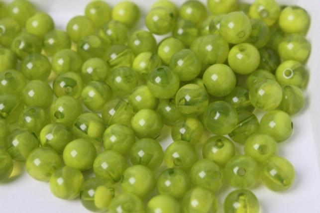 бусины 8мм круглые малахит салатовый (50гр) 8114