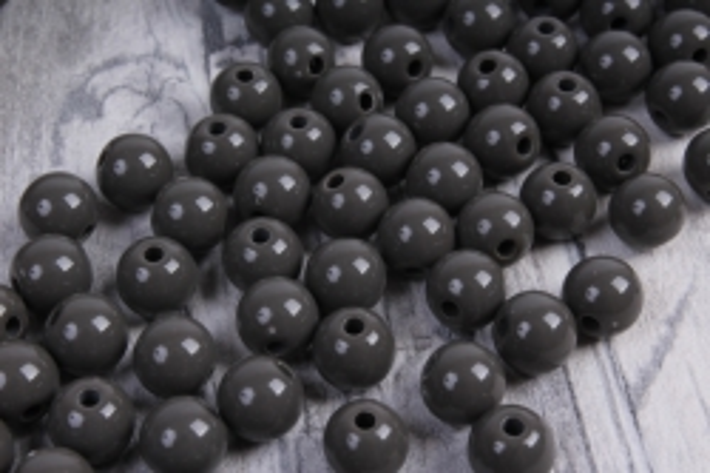 бусины  8мм круглые матовые графитовые  8cmmcsza  (50гр) pl в асс.  4108