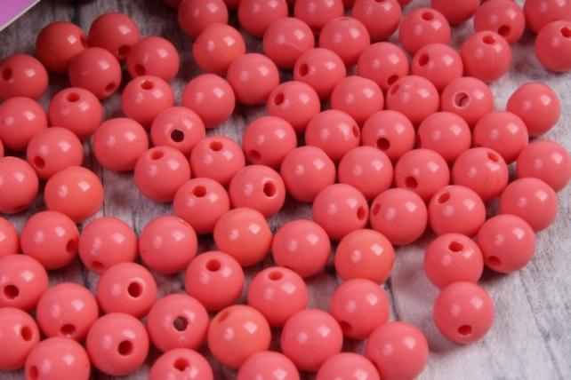 бусины  8мм круглые матовые коралловые  8cmmmal  (50гр) pl в асс.  4184