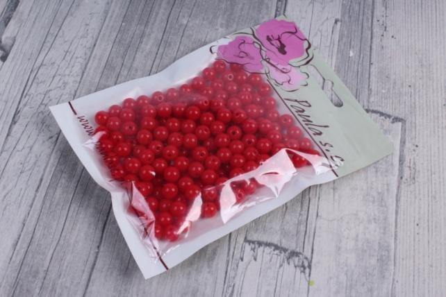 бусины  8мм круглые матовые красные   8cmmcze  (50гр) pl в асс.  4078