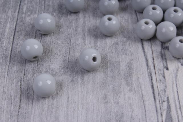 бусины  8мм круглые матовые серые  8cmmsza  (50гр) pl в асс.  4207