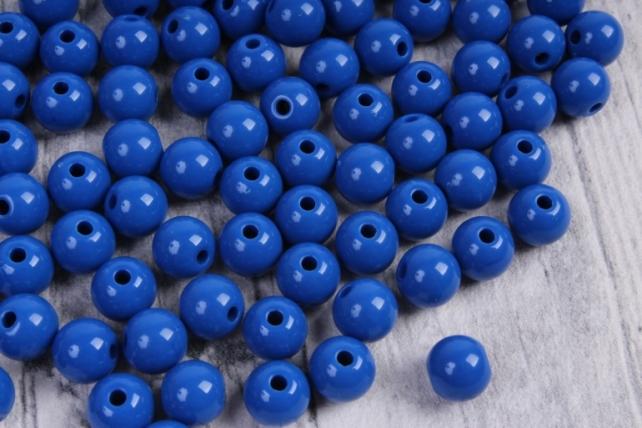 бусины  8мм круглые матовые синие   8cmmnie  (50гр) pl в асс.  4085