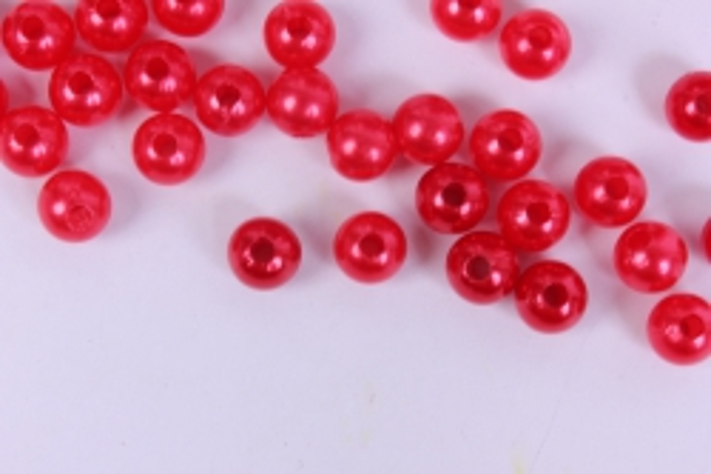 бусины  8мм  круглые перламутр красные  (50гр) pl в асс. k8-7