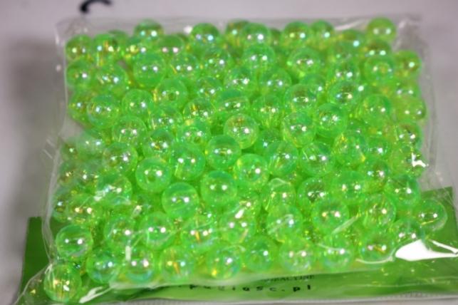 бусины  8мм  круглые перламутр. салатовые  (50гр) pl в асс. 108 ab13