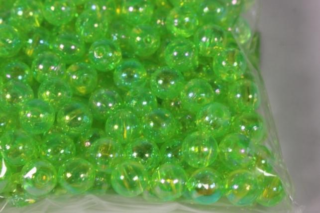 бусины 8мм круглые салатовые (50гр) 108 ав13 5644