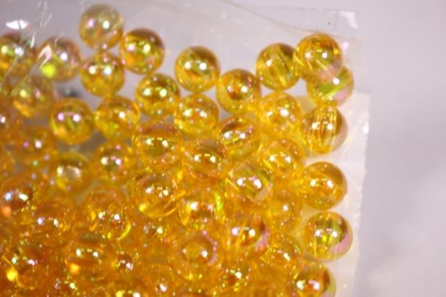 бусины  8мм круглые янтарь   (50гр) pl в асс. 108 ав6