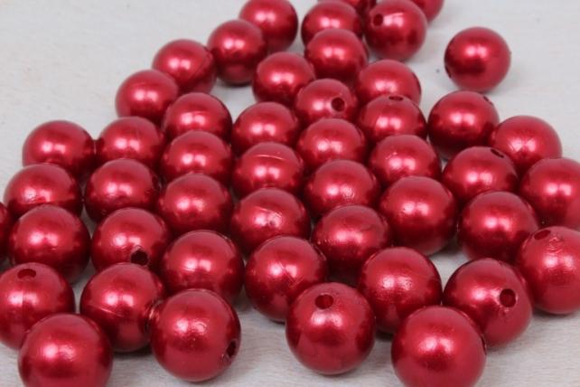 Бусины (А) жемчуг бордо  (16мм) в пакете 100гр